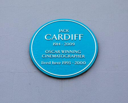 Jack Cardiff Plaque in Saffron Warden, Essex