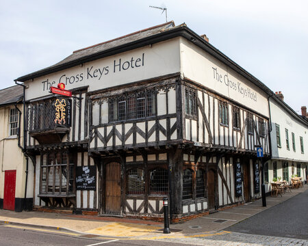 The Cross Keys Hotel in Saffron Walden, Essex, UK
