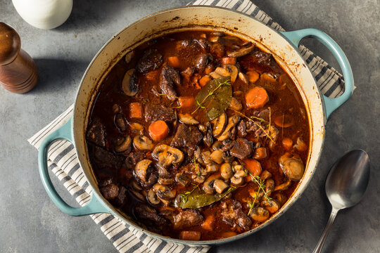 Homemade French Beef Bourguignon Stew