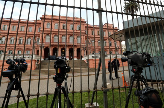 General view outside the Casa Rosada presidential palace in Buenos Aires