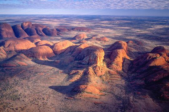 The  amazing Kata Tjuta (Olgas) sandstone rock formations in Uluru-Kata Tjuta National Park in outback Australia.