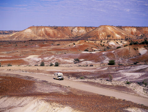 The Archaringa hills sometimes called the painted hills, south australia.