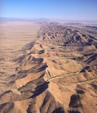 Aerial view odf the North Flinders Ranges, South Australia.