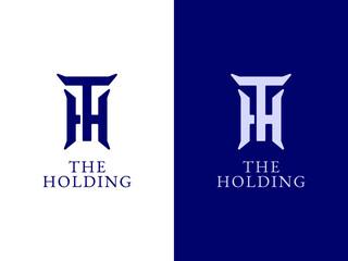 Fototapeta Initial T and H logo design concept obraz