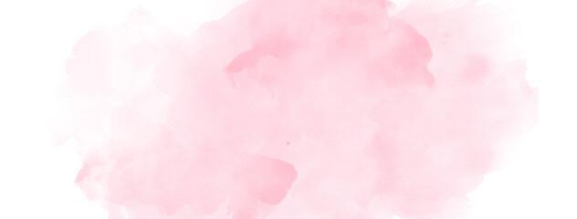 Obraz Light pink watercolor brush strokes on white paper banner background - fototapety do salonu