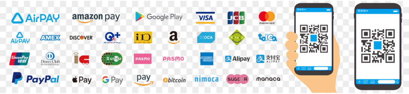 payments systems logo set