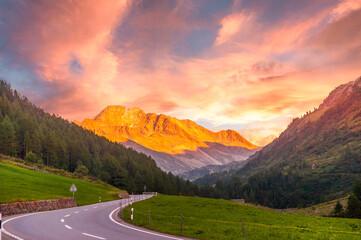 Sunset in Tyrol