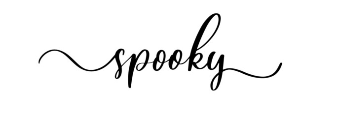 Obraz Spooky - vector brush calligraphy banner. - fototapety do salonu