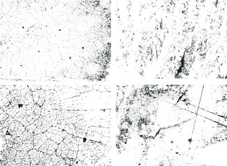 Fototapeta Grunge backgrounds collection for vintage graphic. Damaged textures isolated vector. obraz