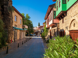 View of the streets of the old town of Kaleici