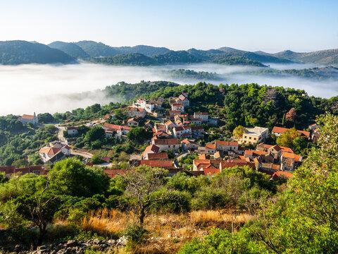 The Village Of Lastovo On Lastovo Island, Croatia