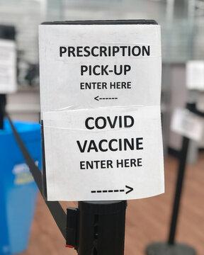 Prescription Covid Vaccine Sign