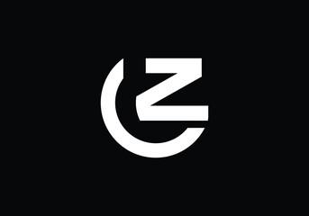 Fototapeta Alphabet letter icon logo CZ, OZ, ZC. obraz
