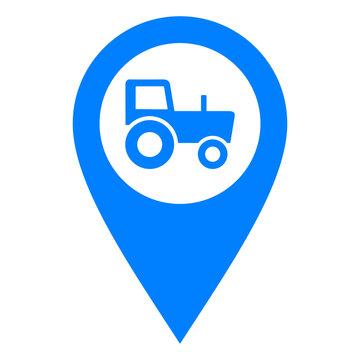 Traktor und Kartenmarkierung