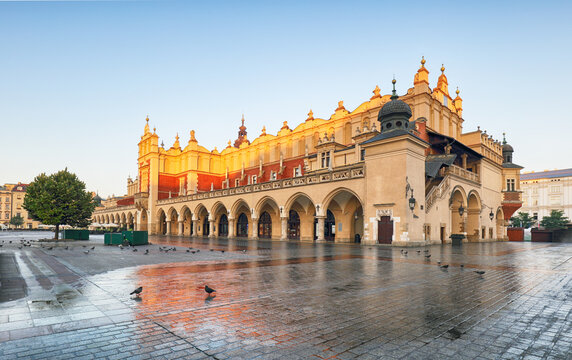 Krakow old city. Market Square. Poland