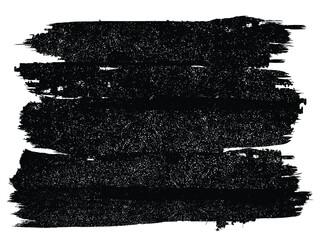 Fototapeta Grunge Paint stripe . Vector brush Stroke . Distressed banner . Black isolated paintbrush collection . Modern Textured shape . Dry border in Black .  obraz