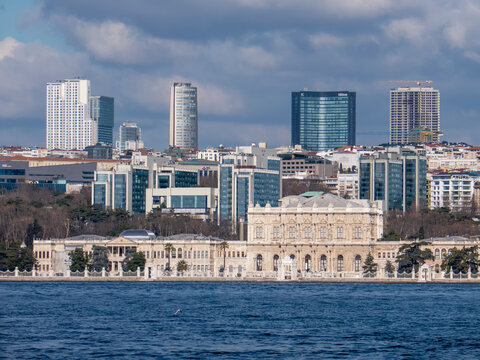 Dolmabahce Mosque, Istanbul, Turkey (view from Bosporus)