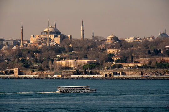 View on the Historic Istanbul Peninsula , Istanbul, Turkey
