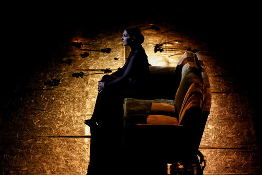 Actor Monica Bellucci performs at the Herodes Atticus theatre in Athens