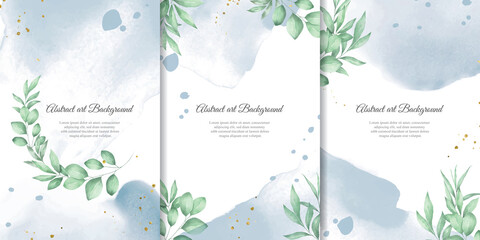 Obraz Hand Painted Watercolor Floral Background Collection - fototapety do salonu
