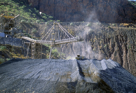 An opan cut diamond mine  in the Kimberley region of  north Western Australia