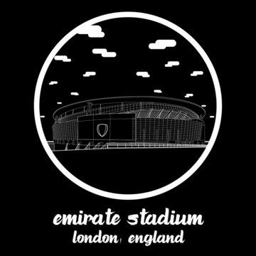 Circle Icon line Emirate Stadium. Vector illustration