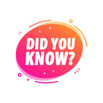 Did You Know Marketing Advert Vector Label