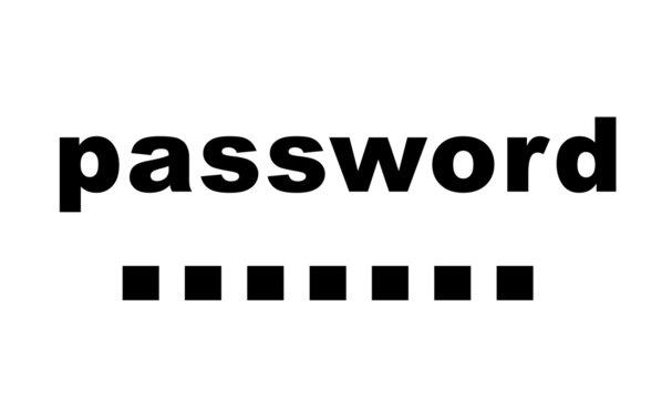 Simple password design word text