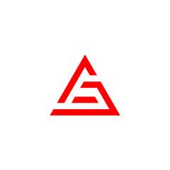 Fototapeta AG Triangle Logo with red color obraz