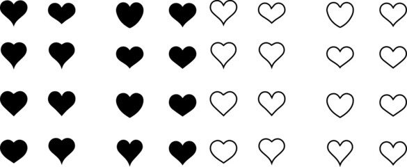 Obraz set of heart icons - fototapety do salonu