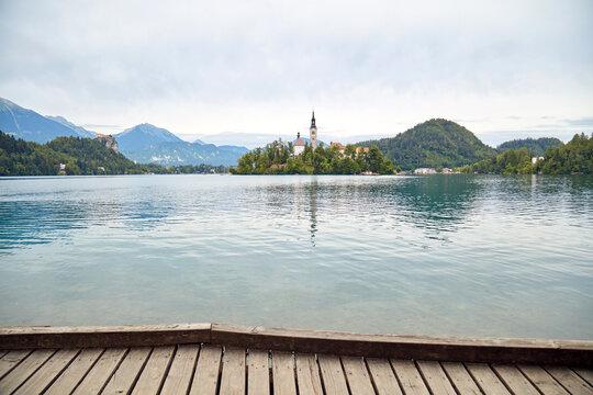 Lake Bled, popular tourist destination in Slovenia, Europe.