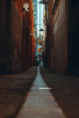 narrow laneway in Melbourne's city