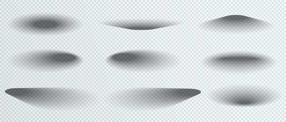 Fototapeta Round shadows isolated on transparent background. Circle shadow template.  Vector illustration obraz