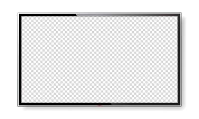 Fototapeta Realistic TV screen mock up isolated on white obraz