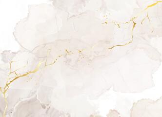 Fototapeta Beige quartz geode vector design frame. Stylish taupe brown texture card obraz