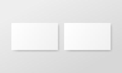 Fototapeta Two blank horizontal business cards mockup. Vector advertising banner mockup stand exhibit obraz