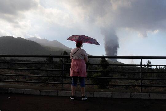 Eruption of a volcano on the Canary Island of La Palma