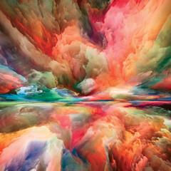Obraz Unfolding of Heaven and Earth - fototapety do salonu