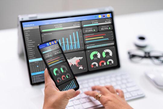 KPI Business Analytics Data Dashboard