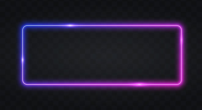 Neon frame for your design