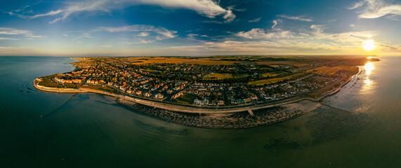 Fototapeta Aerial view of Westgate on Sea, Margate, Kent, UK obraz