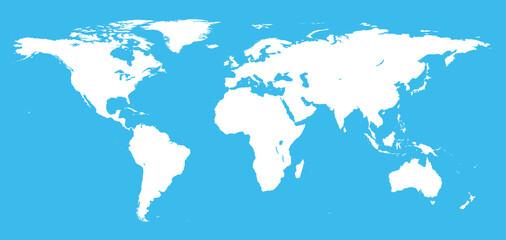 Detail world map