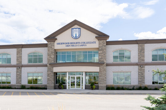 Mississauga, ON, Canada - September 26, 2021: Sherwood Heights School Erin Mills Campus in Mississauga, ON, Canada. Sherwood Heights Schools are independent schools.