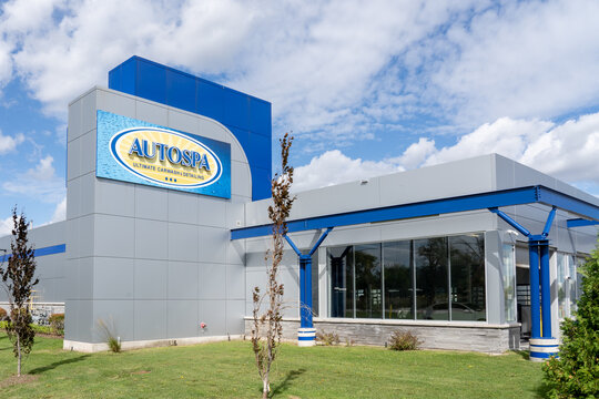 Mississauga, ON, Canada - September 26, 2021: Auto Spa facility in Mississauga, ON, Canada. Auto Spa is Canada's leading automotive care facility.