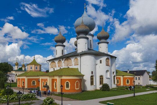 Tikhvin, Russia - July 30, 2020: Tikhvin Monastery - Saint Petersburg region - Russia