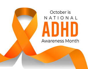Fototapeta October is ADHD Awareness Month. Vector illustration obraz