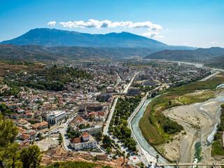 Fototapeta Panorama view of Berat in Albania obraz