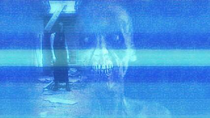 Obraz 3d illustration - Horror Zombie With Effects - fototapety do salonu