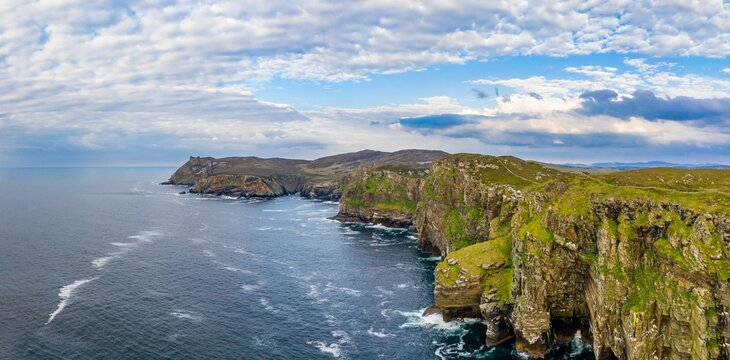 Aerial view of Horn Head in County Donegal - Ireland