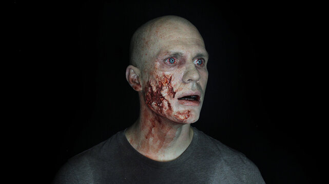 male zombie with face trauma #3